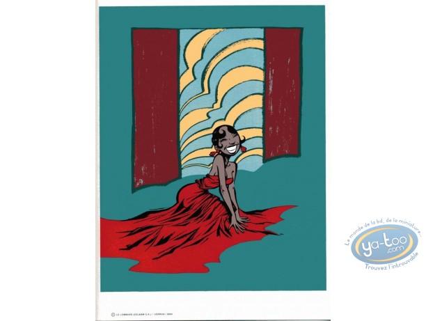 Bookplate Serigraph, Odilon Verjus : Josephine Baker