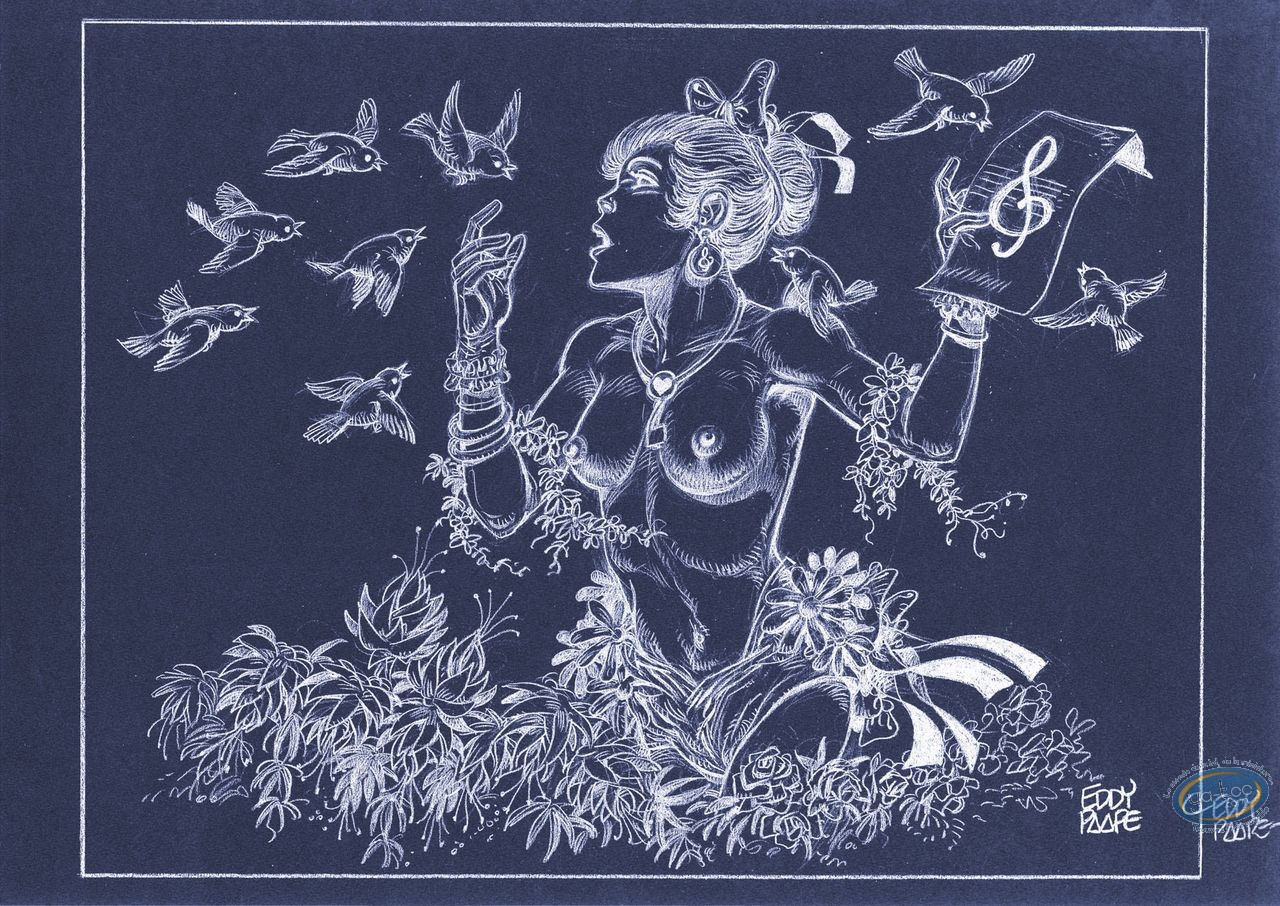 Offset Print, Luc Orient : Laura Singing (negative)