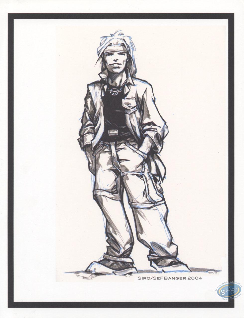 Bookplate Offset, Aquablue : Nao (rough sketch)