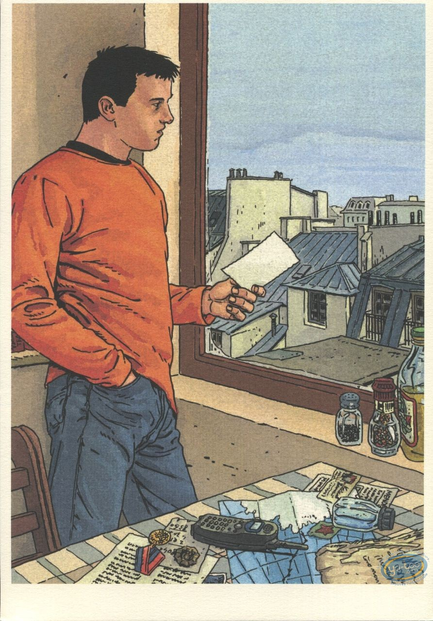 Bookplate Offset, Serpent sous la Glace (Le) : Man at the Window
