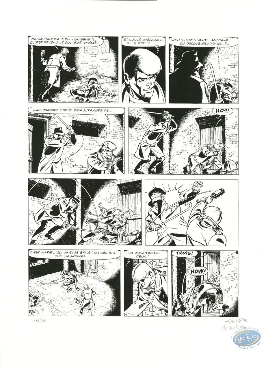 Serigraph Print, Ric Hochet : Page