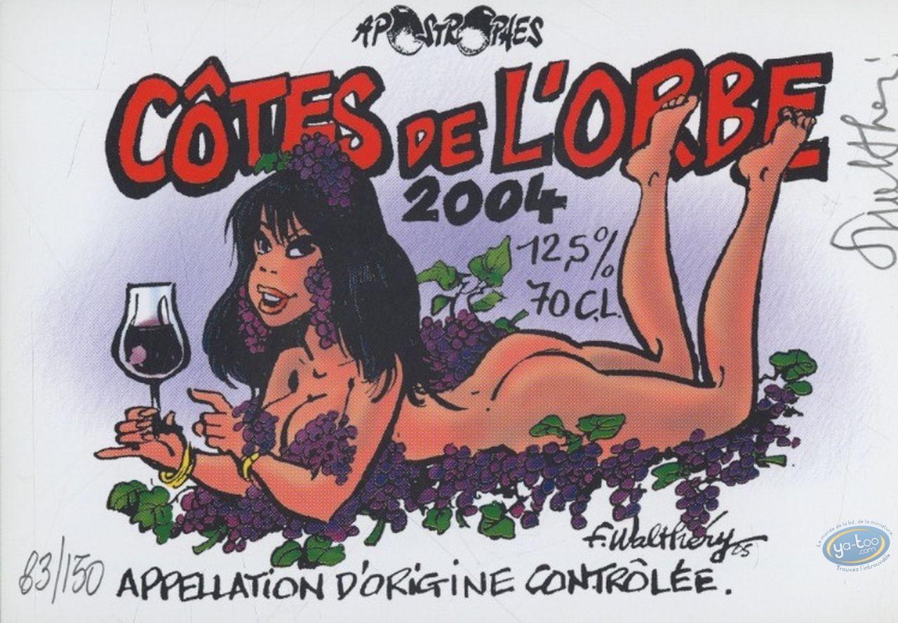 Wine Label, Pin-Up : Woman - Côte de l'Orbe 2004