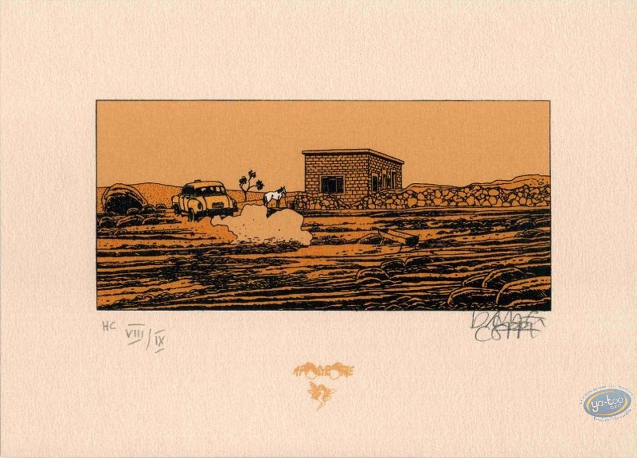 Bookplate Serigraph, Stéphane Clément : Journey