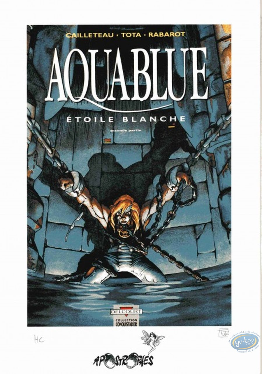 Bookplate Offset, Aquablue : Etoile Blanche