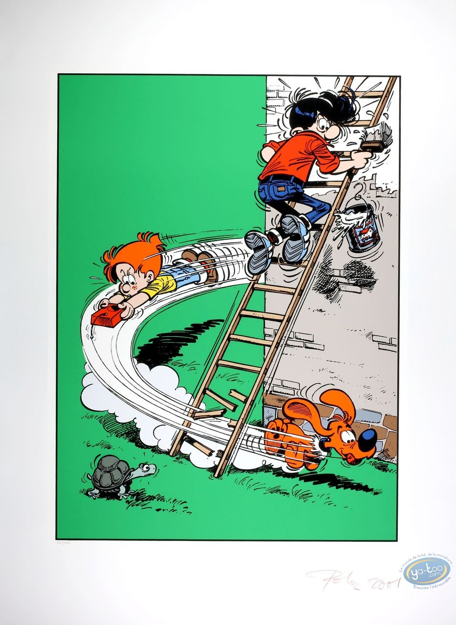 Serigraph Print, Billy and Buddy : Here Coms Billy and Buddy