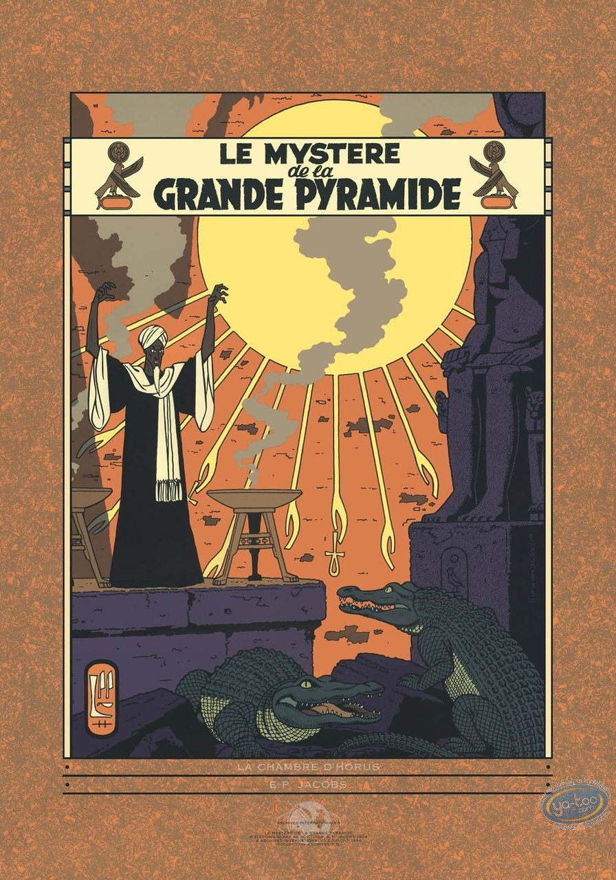 Serigraph Print, Blake and Mortimer : The Mystery of the Great Pyramid