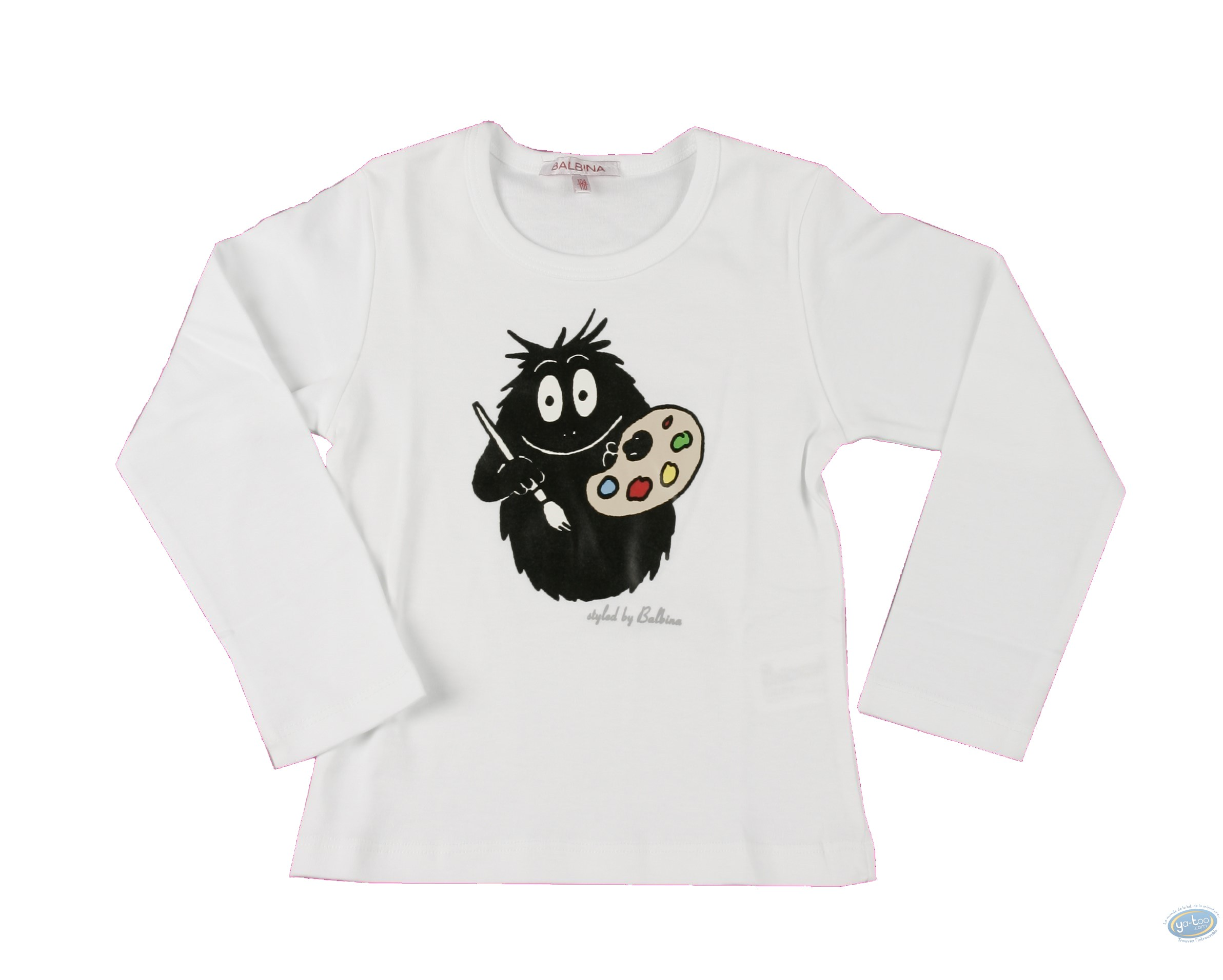 Clothes, Barbapapa : T-shirt long-sleeve white Barbapapa for kid : size 152/158, painter
