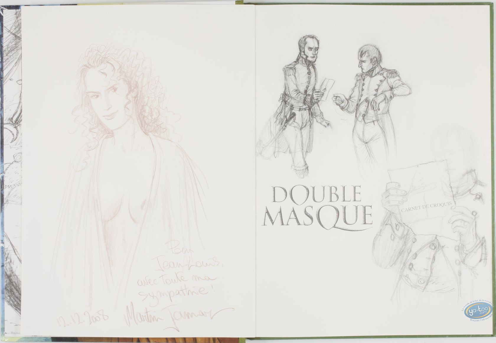 Limited First Edition, Double Masque : L'archifou - Les deux sauterelles (dedication)