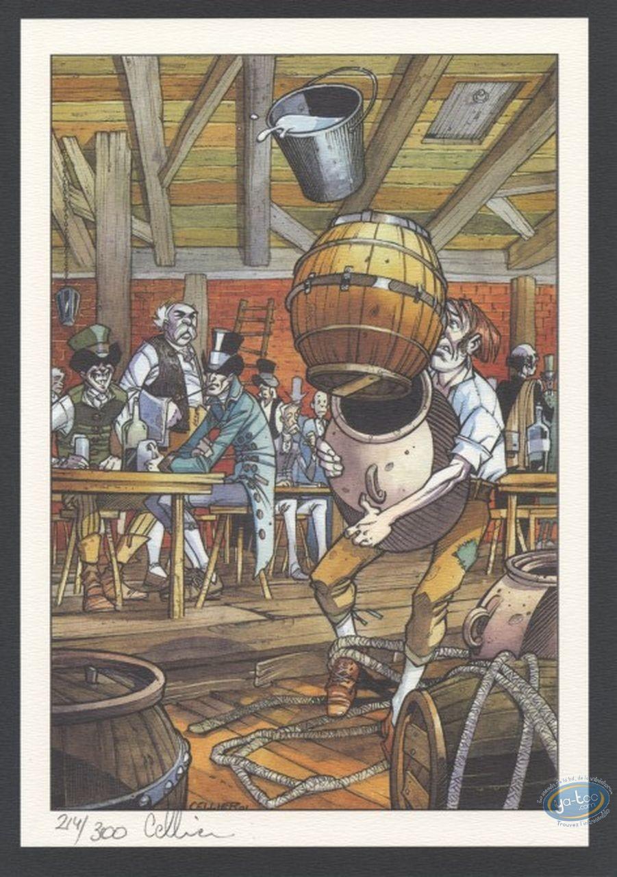 Bookplate Offset, Maître du Hasard (Le) : The barrel