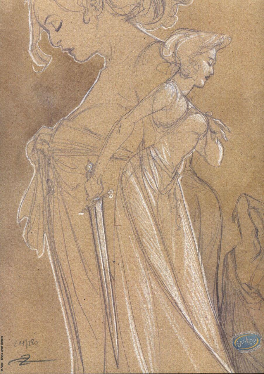 Bookplate Offset, 3ème Testament (Le) : Woman Sketch