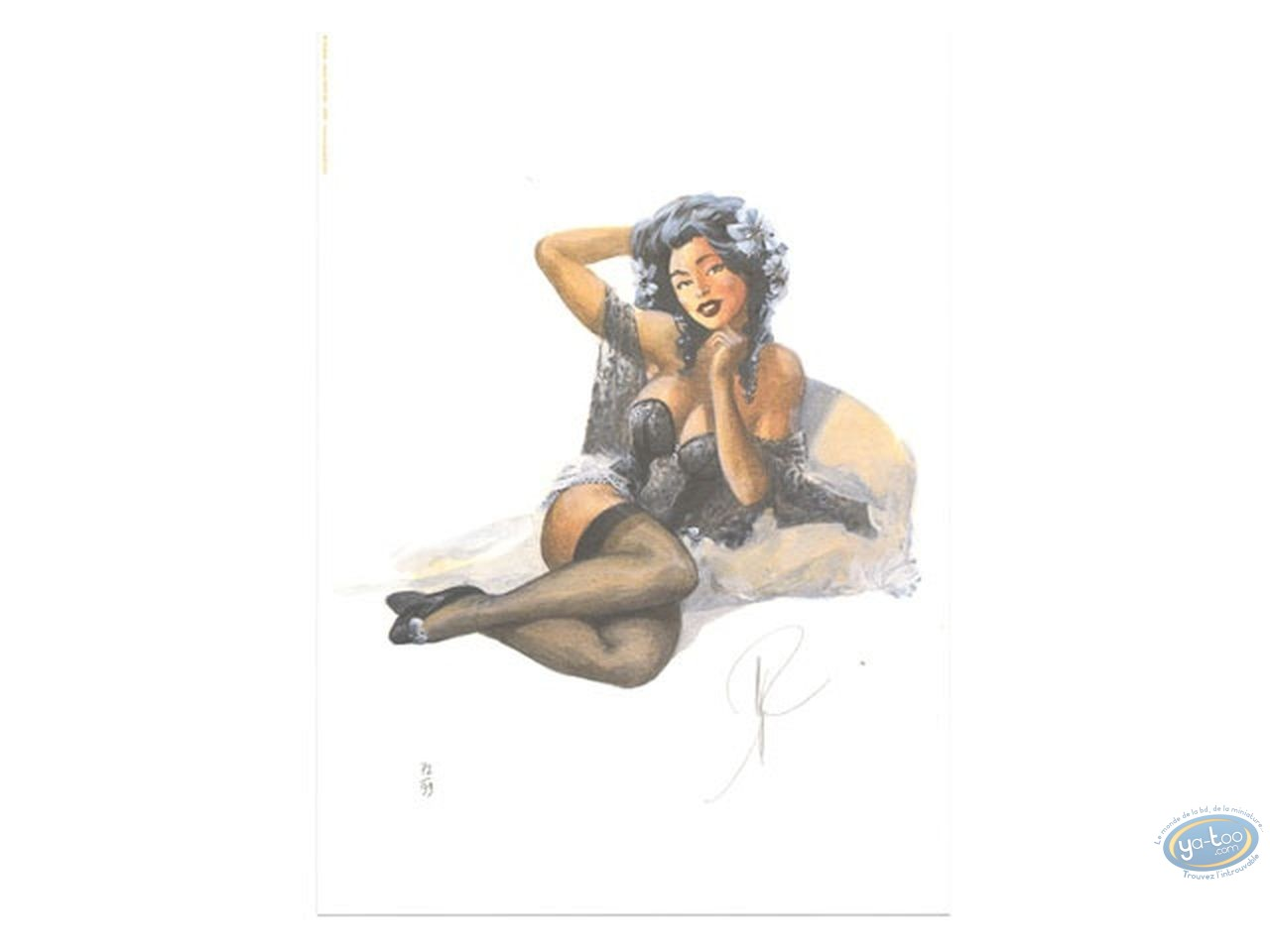 Bookplate Offset, Pin-Up : Pin-up sitting