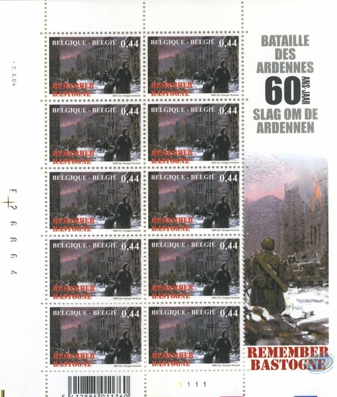 Stamp, Battle of the Bulge (The) : 10 stamps sheet woman & child