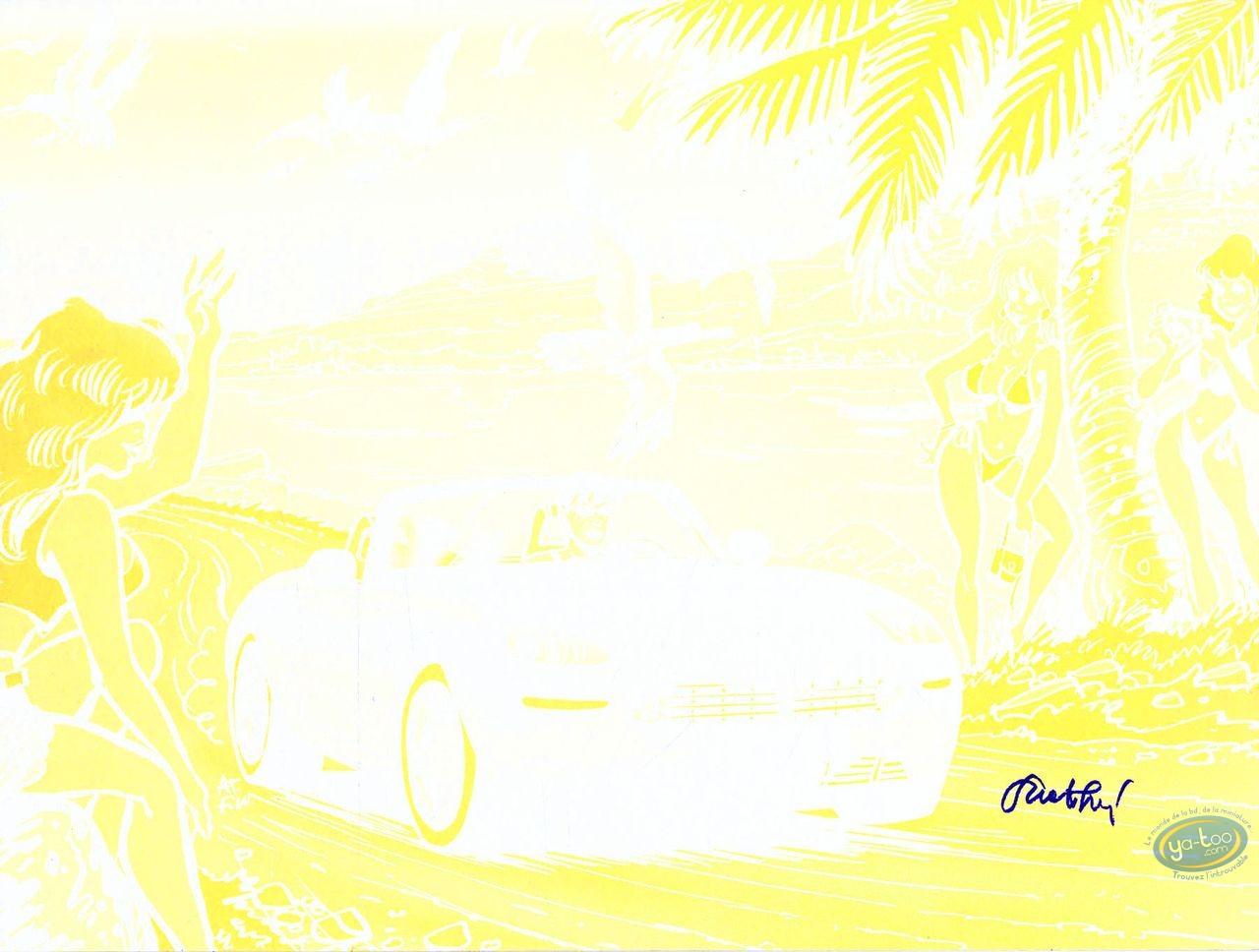 Offset Print, Pin-Up : Caroline Baldwin (yellow without black)