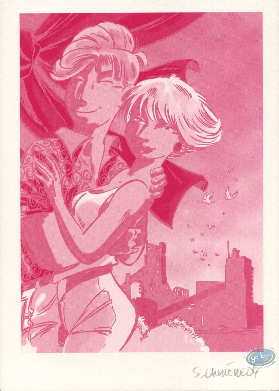 Bookplate Offset, Léo Loden : Leo & Marlène (red, no lines)
