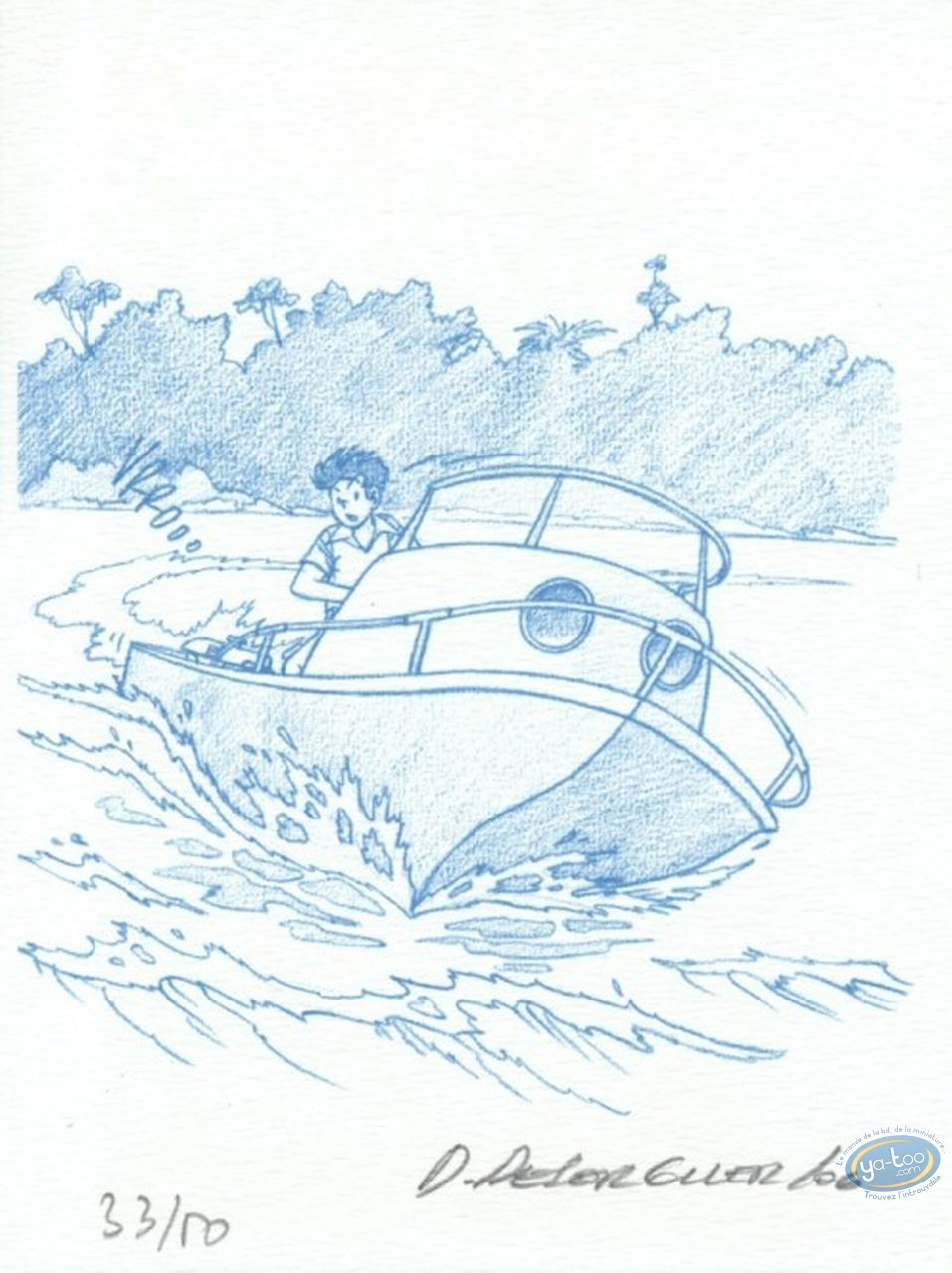 Bookplate Offset, Jimmy Tousseul : The Boat