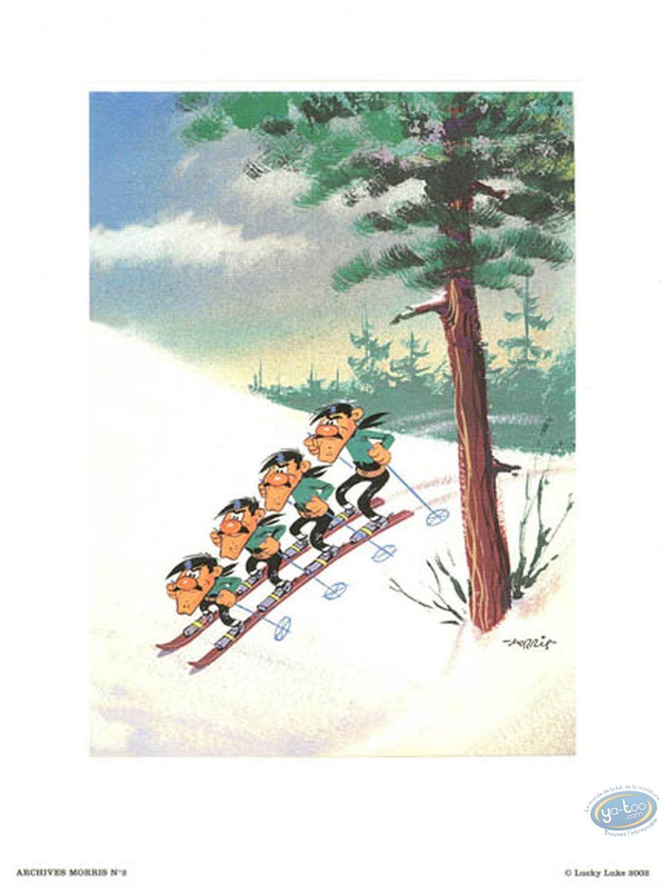 Offset Print, Lucky Luke : The Dalton skiing