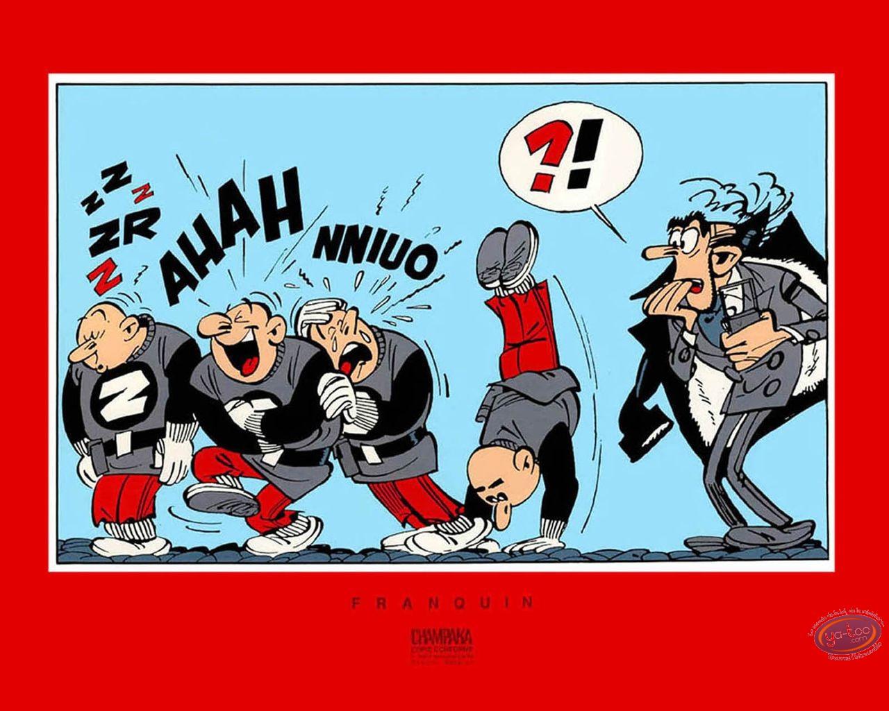 Serigraph Print, Spirou and Fantasio : Zorglub Zorglhommes
