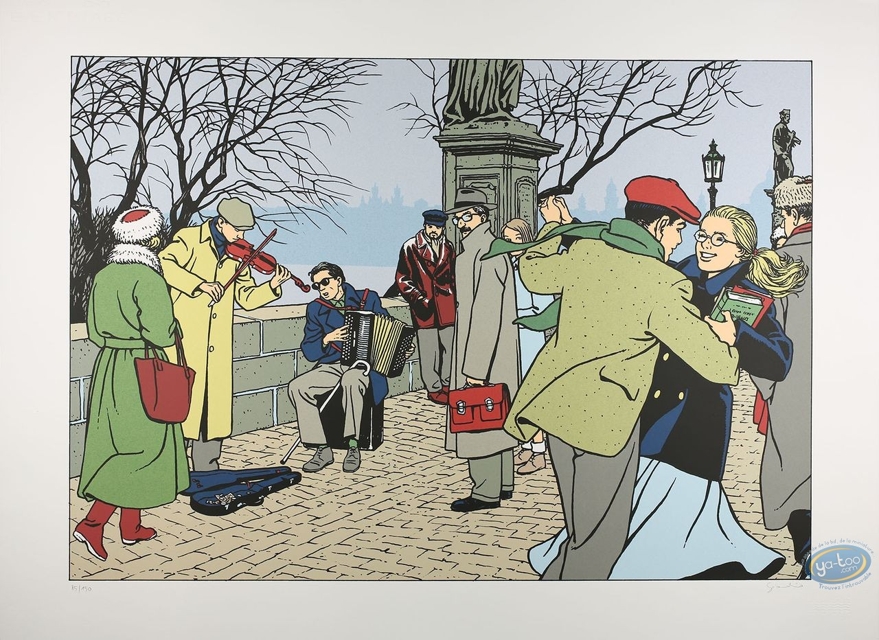 Serigraph Print, Jonas Fink : Jonas Fink