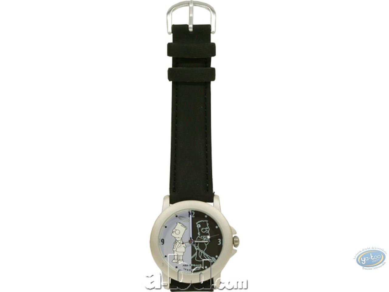 Clocks & Watches, Simpson (Les) : Watch, The Simpsons : Bart b&w (leather strap)