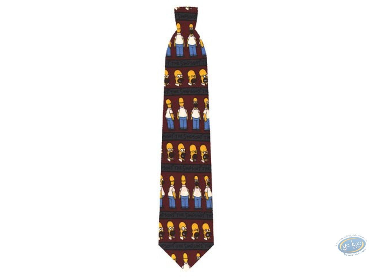 Clothes, Simpson (Les) : Simpson Homer burgundry tie