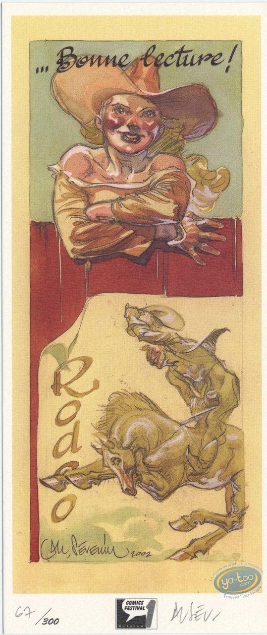 Bookplate Offset, Séverin : Bonne lecture ! Rodeo