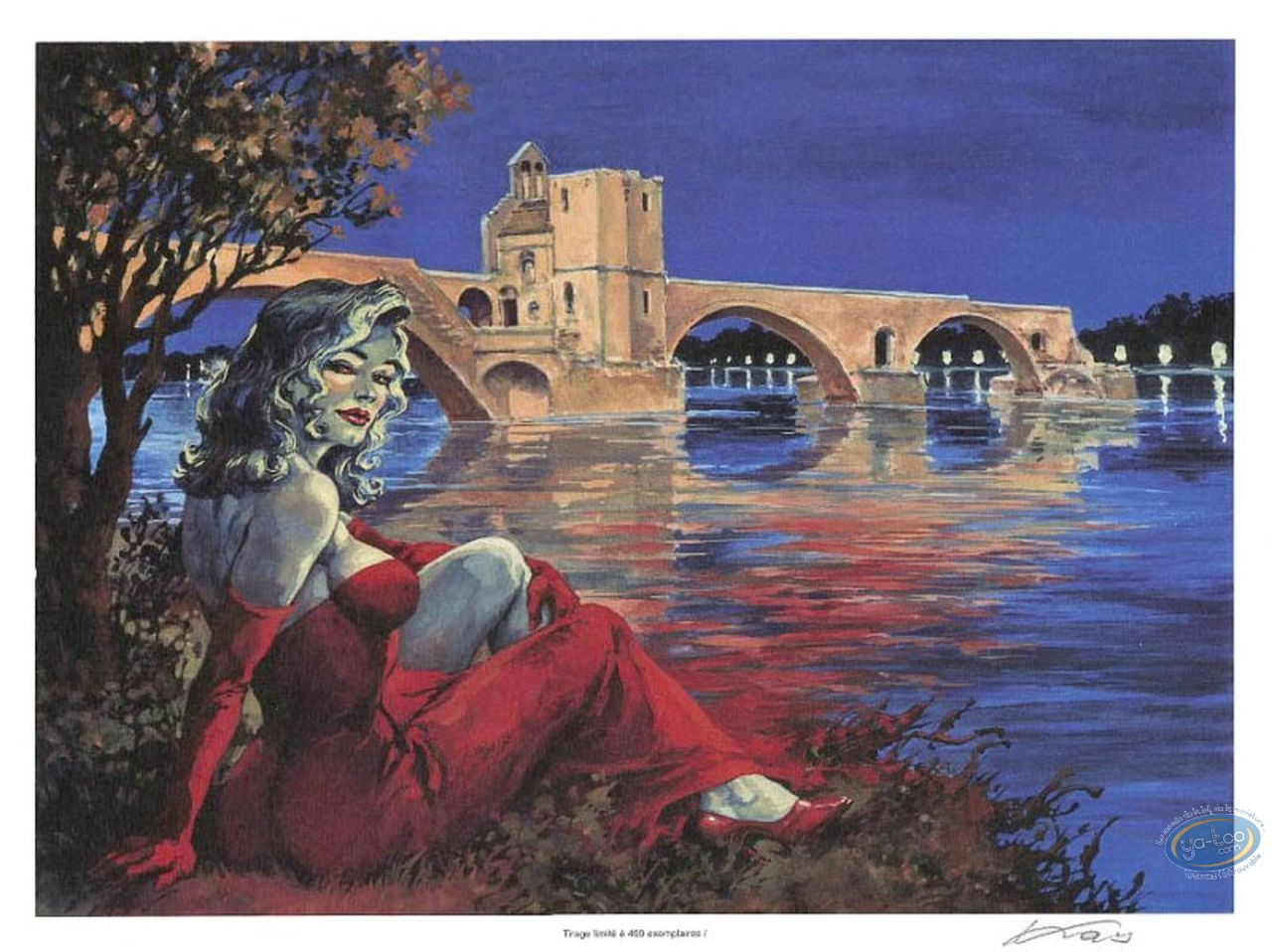 Bookplate Offset, Halloween Blues : Avignon's Bridge