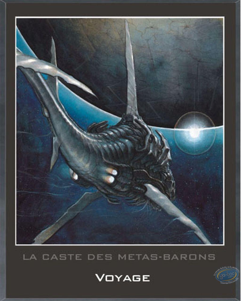 Offset Print, Caste des Métas-Barons (La) : Wooden plate, La Caste des Metas-Barons : Travel