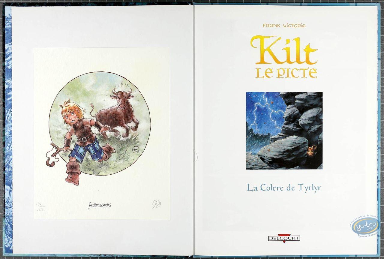 Listed European Comic Books, Kilt le Picte : La Colere de Tyrlyr (+ bookplate)