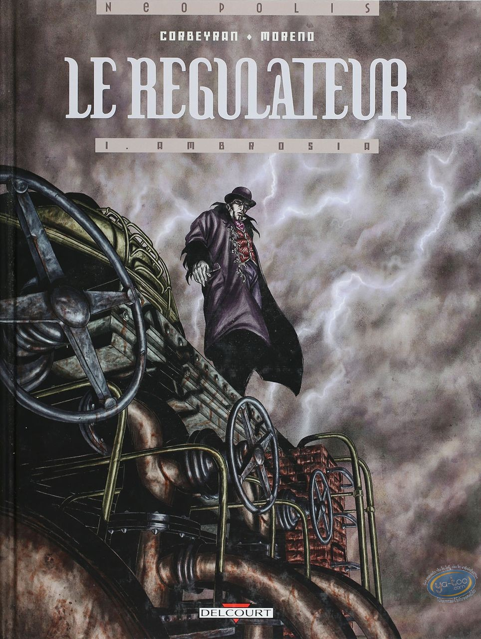 Listed European Comic Books, Régulateur (Le) : Ambrosia (dedication + bookplate)