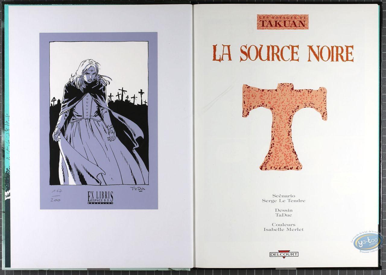 Listed European Comic Books, Takuan : La Source noire (good condition + bookplate)
