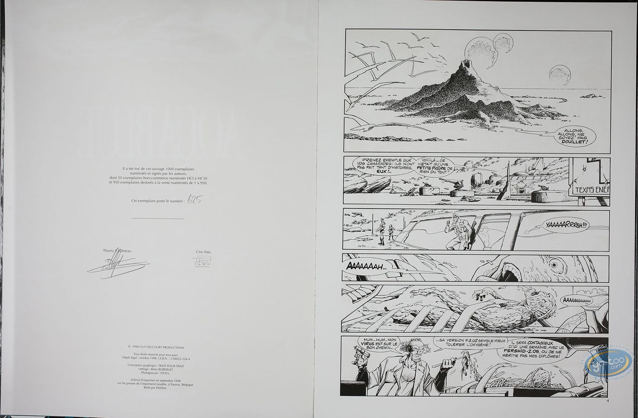 Limited First Edition, Aquablue : Projet Atalanta