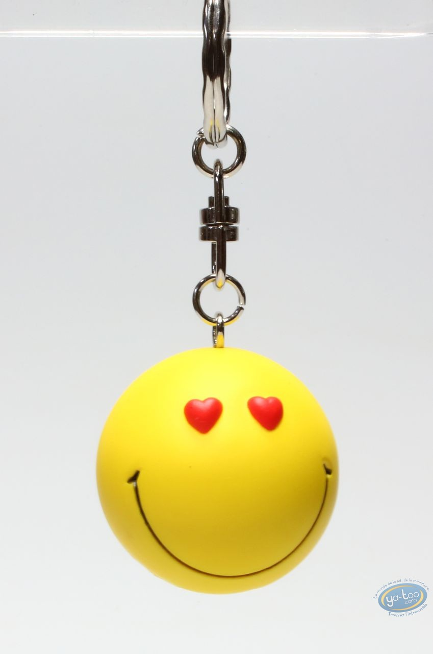 Keyring, Smiley : Key ring, Smiley heart