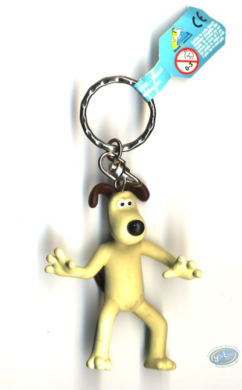 Plastic Figurine, Wallace and Gromit : Key ring, Key ring, Wallace & Gromit : Gromit