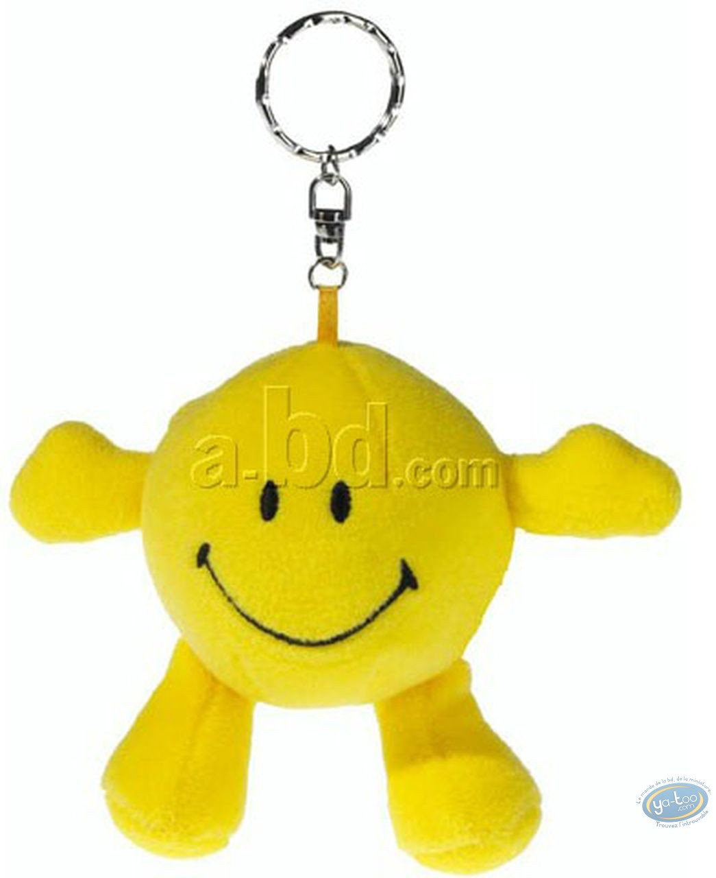 Keyring, Smiley : Plush Key ring, Smiley