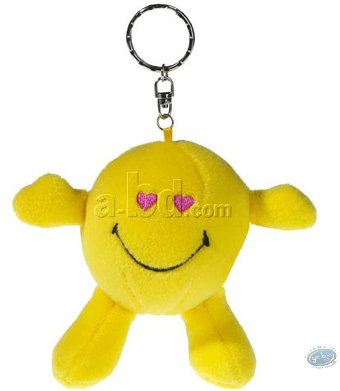 Keyring, Smiley : Plush Key ring, Smiley heart