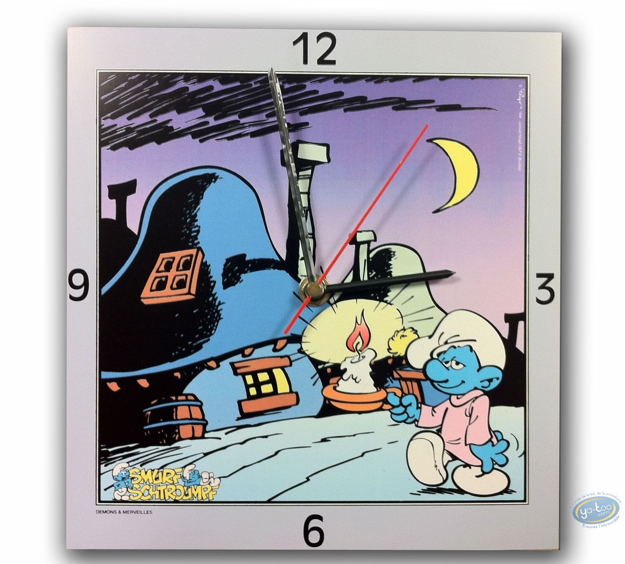 Clocks & Watches, Smurfs (The) : Clock, The Smurf : night