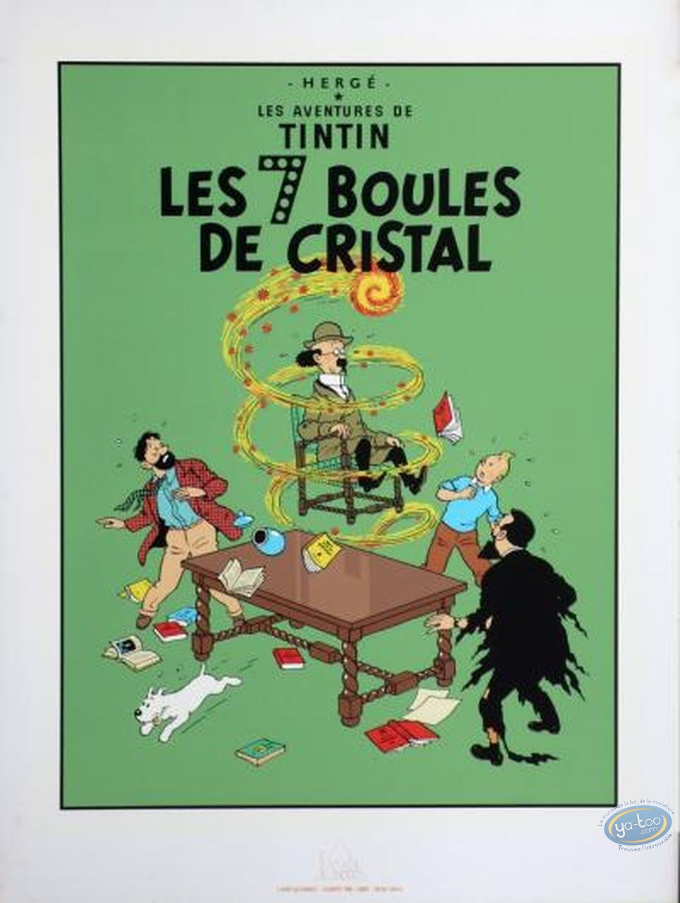 Serigraph Print, Tintin : The Seven Crystal Balls