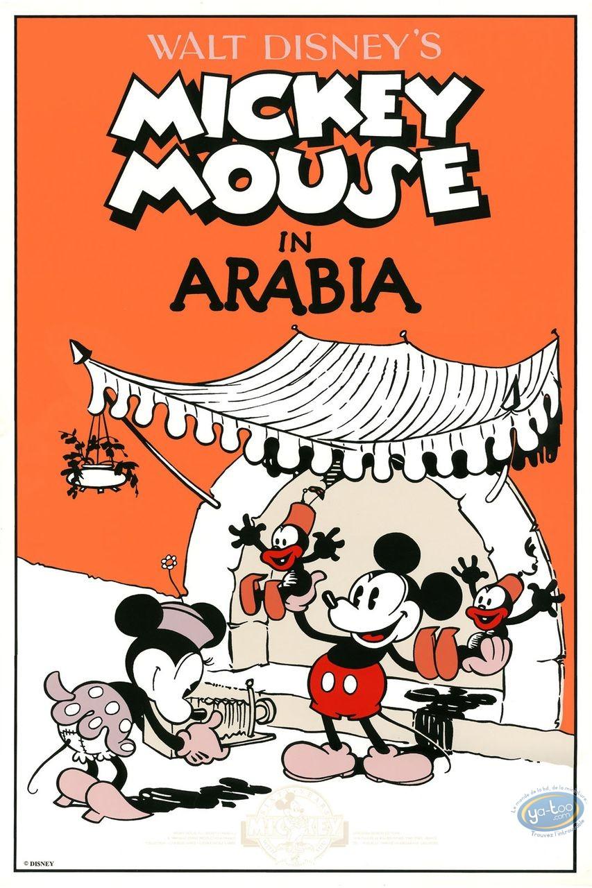 Serigraph Print, Mickey Mouse : In Arabia, Disney