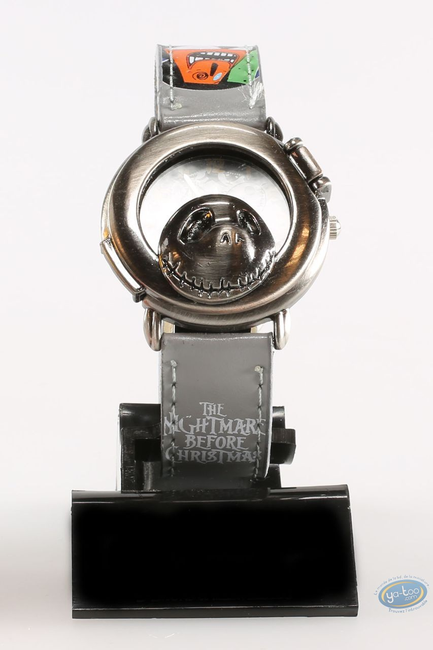 Clocks & Watches, Etrange Noël de Mr. Jack (L') : Watch, The Nightmare before Christmas Mr Jack: character - grey leather strap