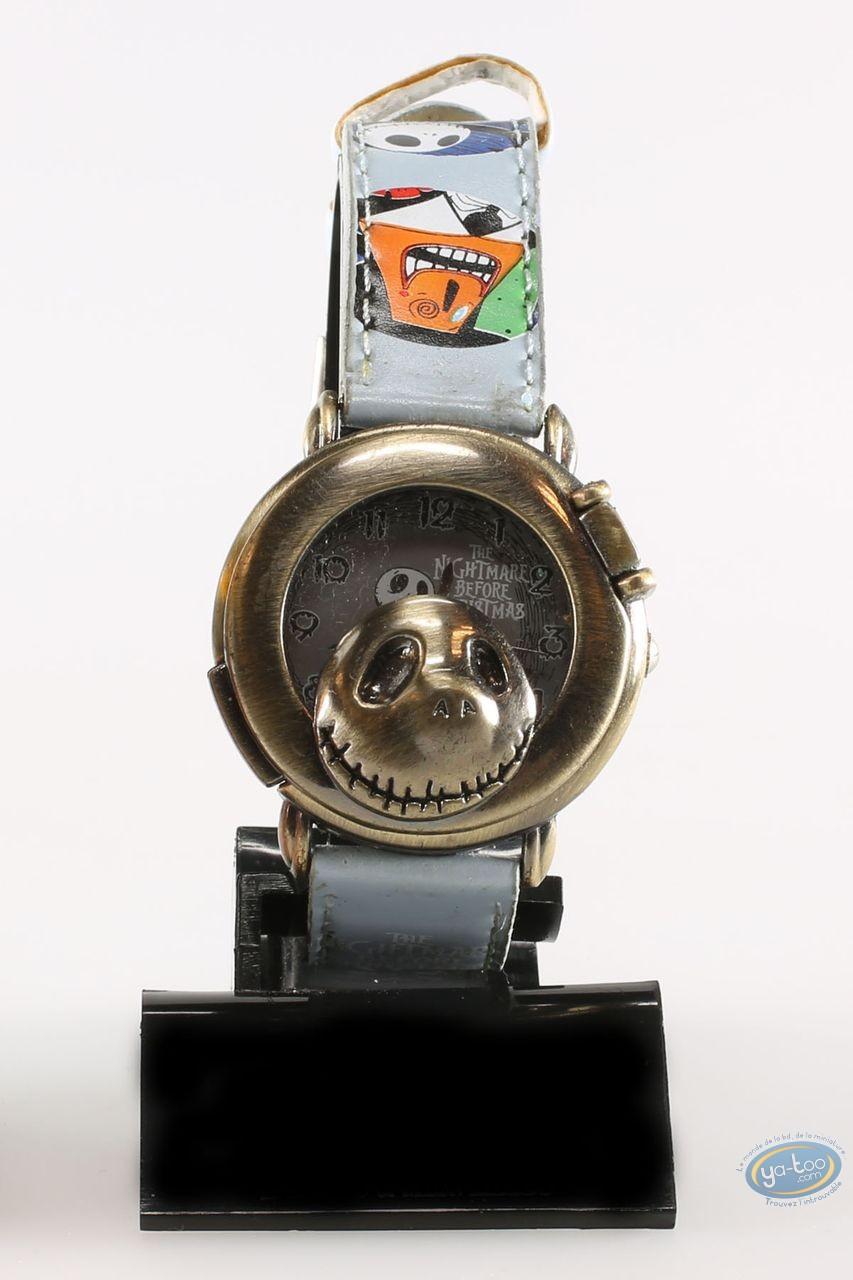 Clocks & Watches, Etrange Noël de Mr. Jack (L') : Watch, The Nightmare before Christmas Mr Jack: character - blue leather strap