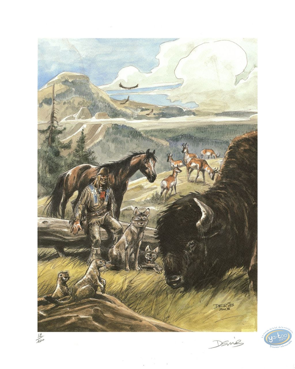 Offset Print, Buddy Longway : Bison
