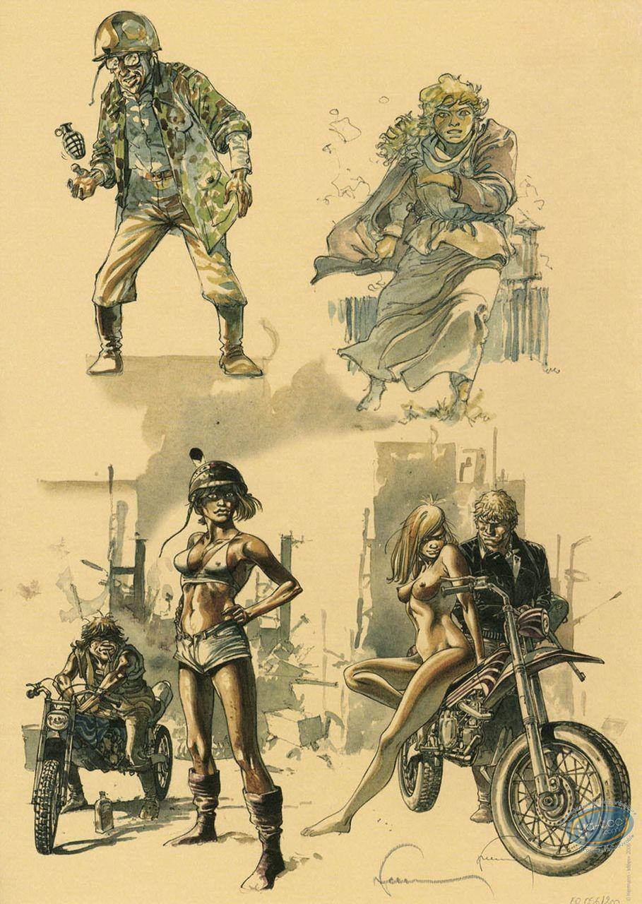 Offset Print, 4 drawings
