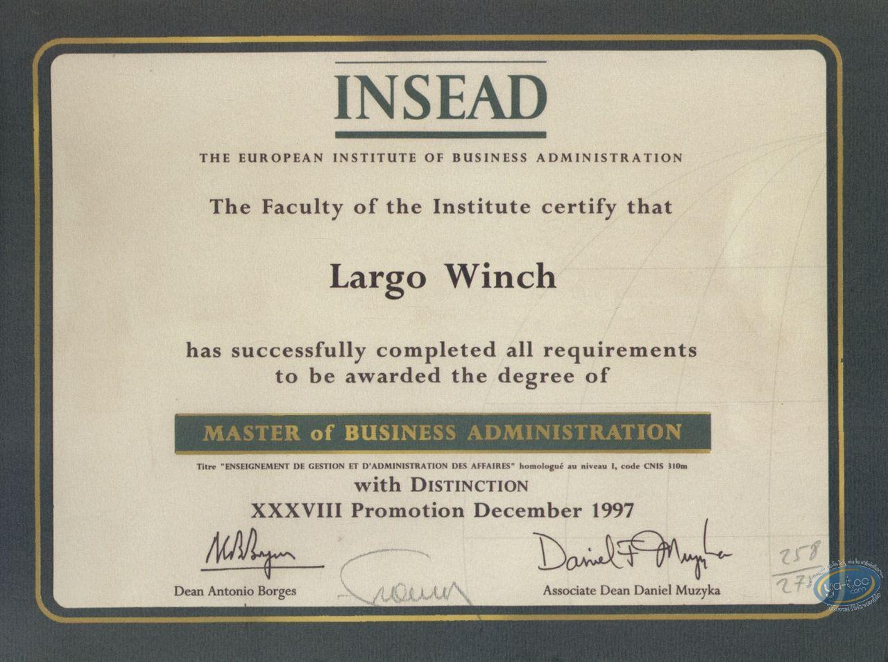 Bookplate Offset, Largo Winch : Insead