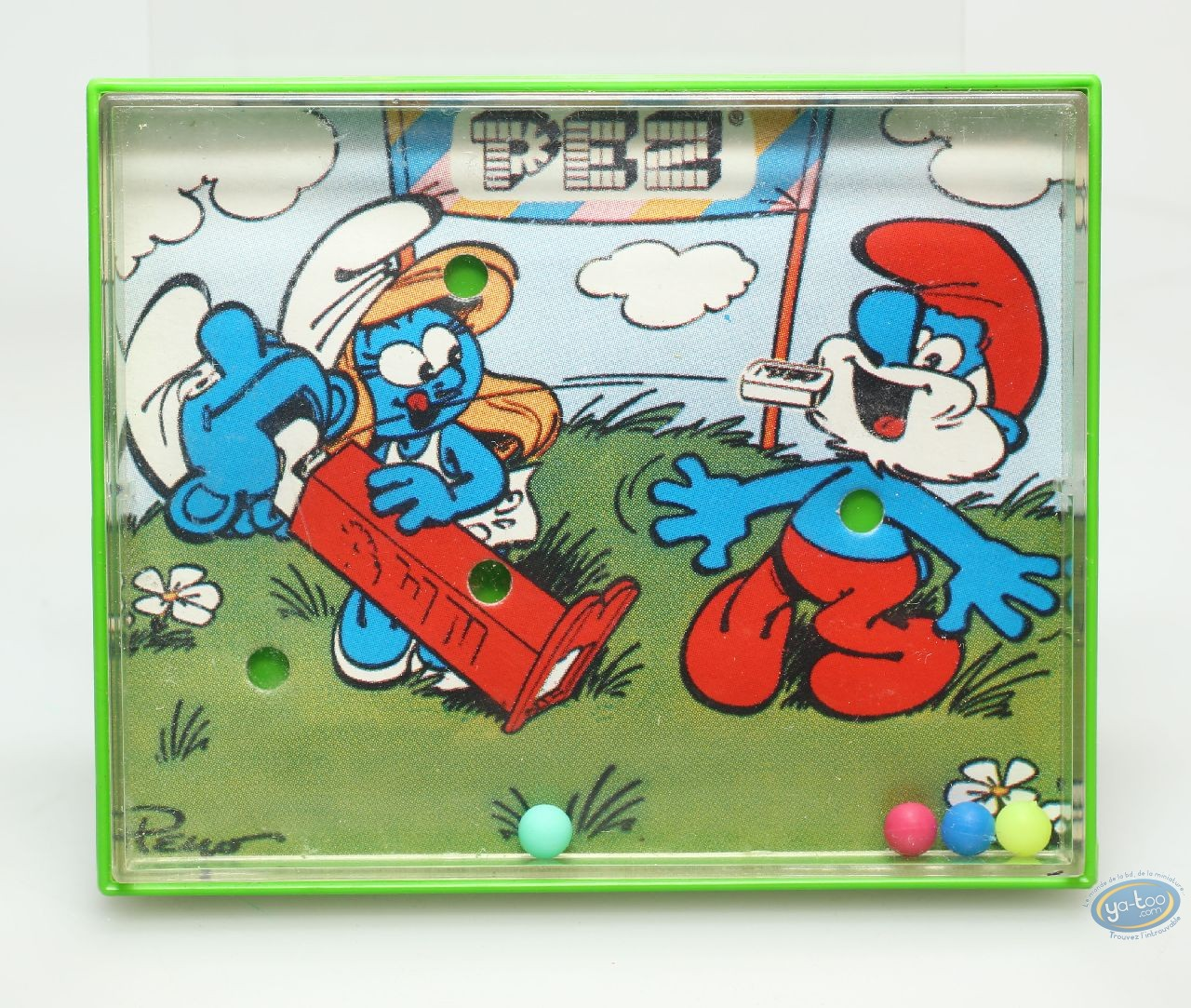 Toy, Smurfs (The) : Smurf's game Pez - green