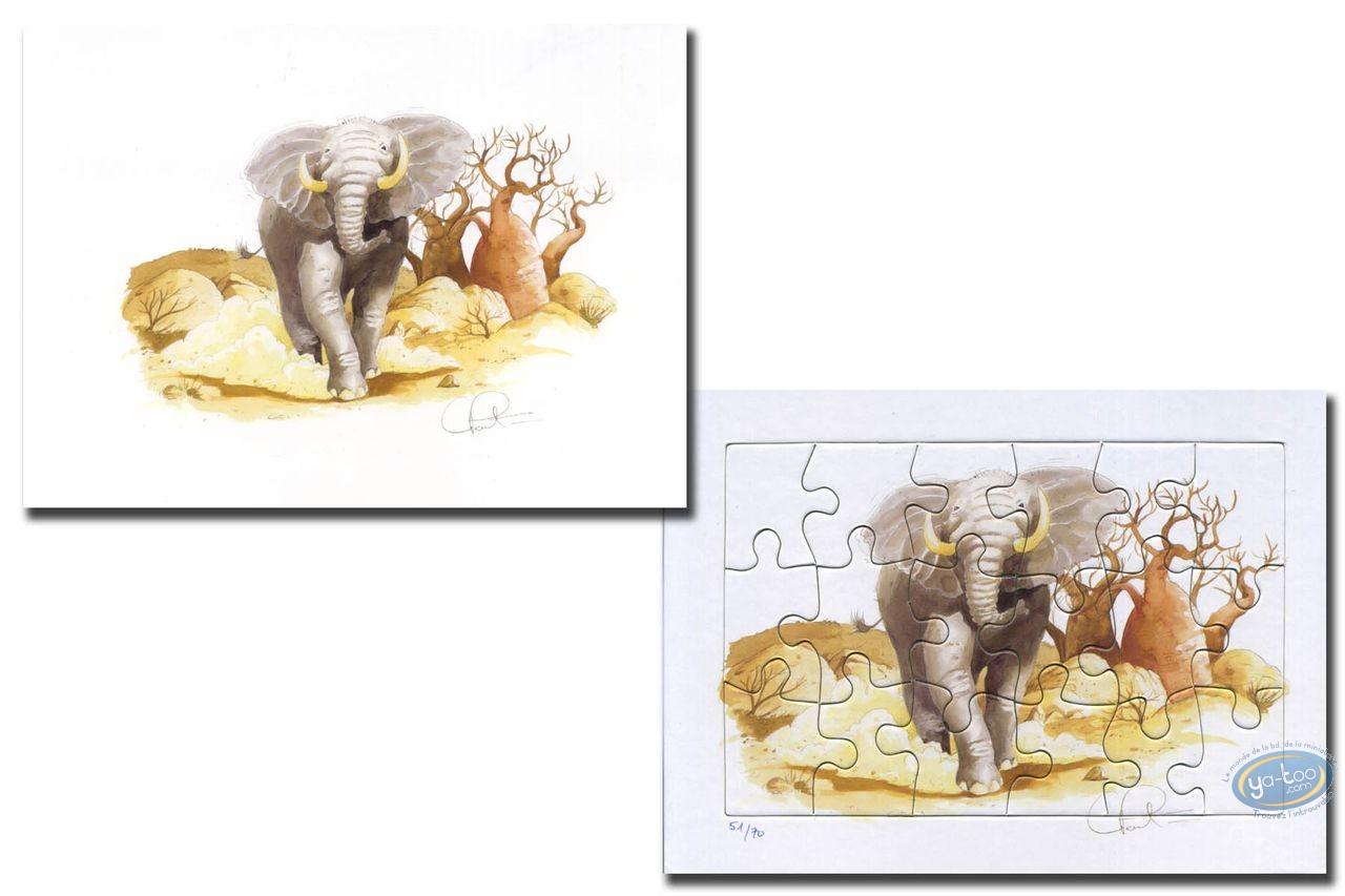 Bookplate Offset, The oliphant (jigsaw)