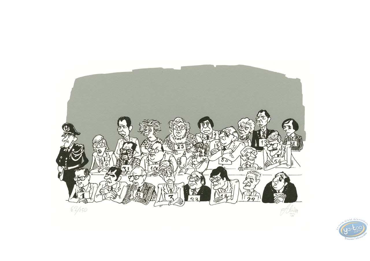 Serigraph Print, Alidor : Jury (variant)