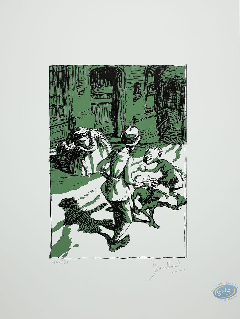 Serigraph Print, Qui à Tué l'Idiot? : In the Street