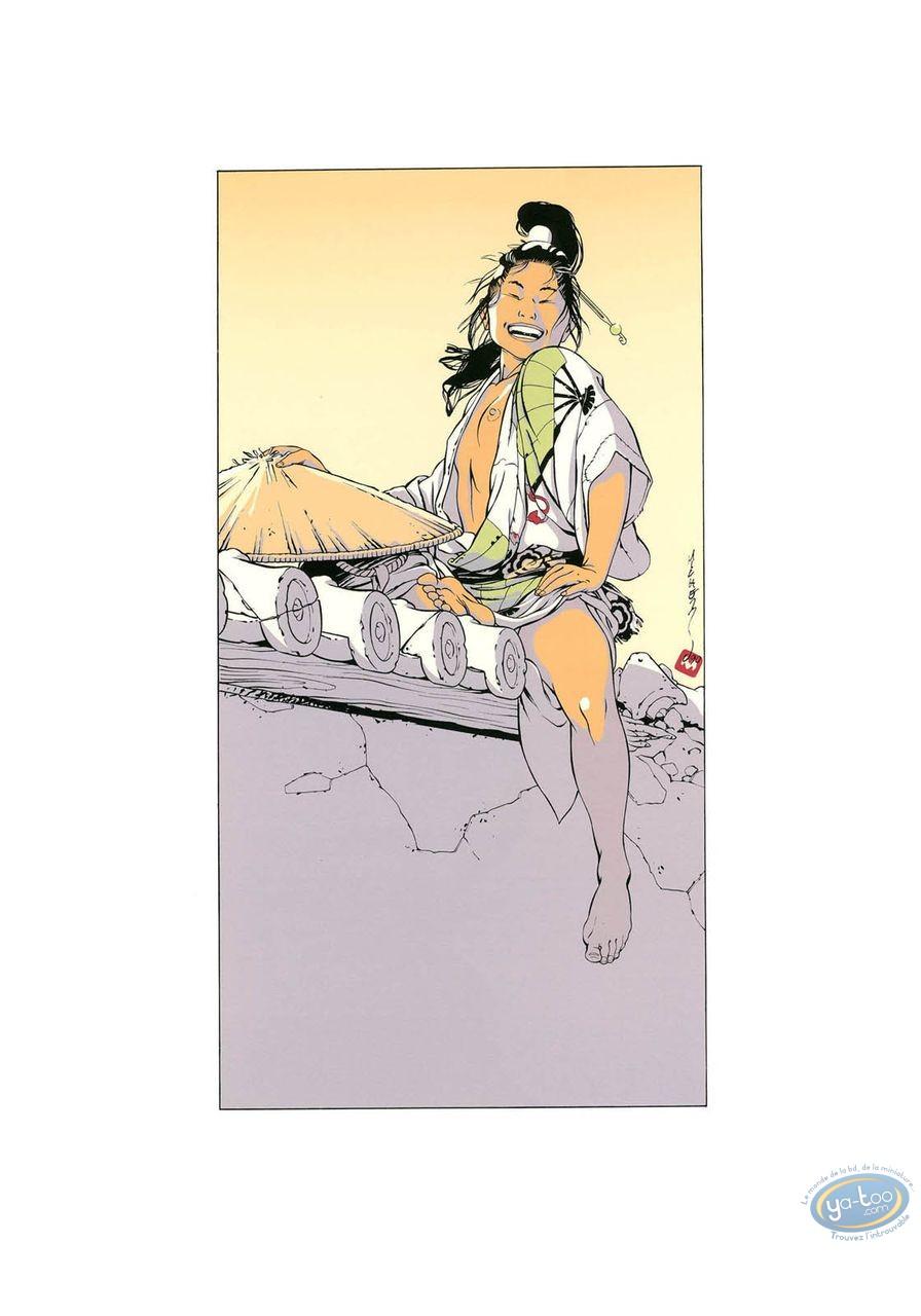 Serigraph Print, Kogaratsu : Woman on a wall