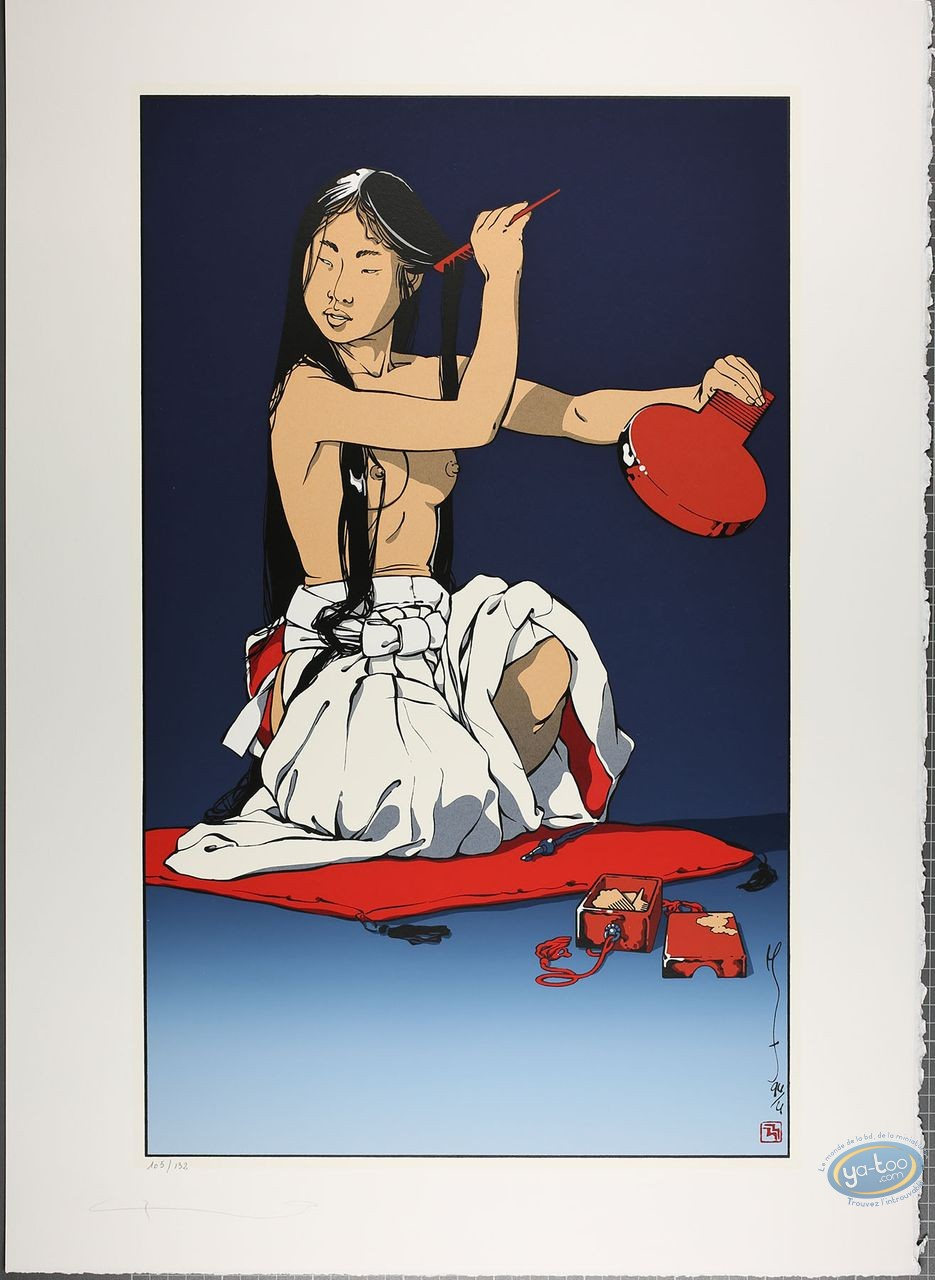 Serigraph Print, Kogaratsu : Shino