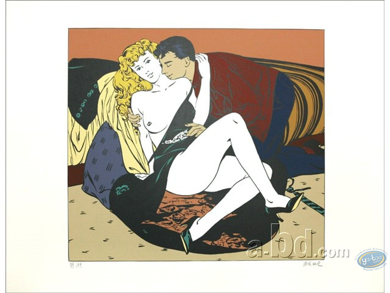 Serigraph Print, Man & Woman